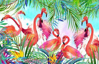 Сервировочная салфетка ПВХ Фламинго