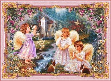 Фотообои 2 листа Ангелы оптом
