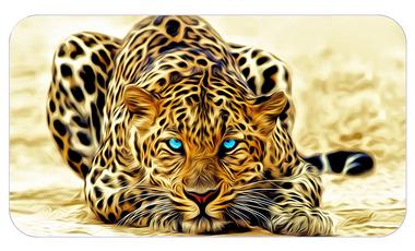Фотообои 4 листа Леопард оптом