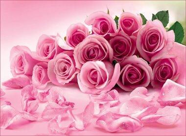 Фотообои 8 листов VIP Розовые розы оптом