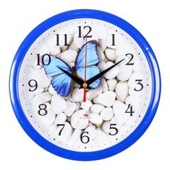 Часы настенные 2222-101 Бабочка на гальке