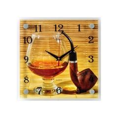 Часы настенные 2525-678 Коньяк и трубка
