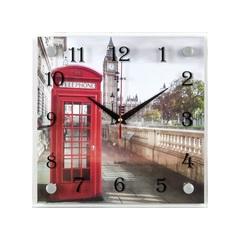 Часы настенные 2525-771 Телефонная будка