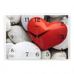 Часы настенные 2535-1217 Сердце на камнях