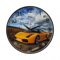 Часы настенные 3030-419 Машина желтая