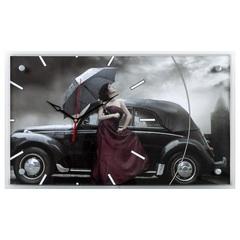 Часы настенные 6036-61 Девушка с зонтом