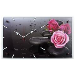 Часы настенные 6036-66 Розы на камнях