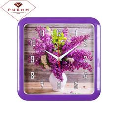 Часы настенные 7667-72 Сирень в вазе