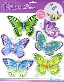 """Наклейка декор """"RoomDecor"""" CBA 3119 Бабочки разноцветные оптом"""
