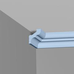 Плинтус потолочный Плинтэкс H 30/35 (голубой)