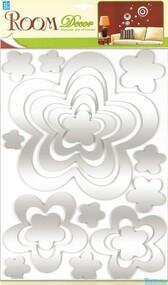 """Наклейка декор """"RoomDecor"""" RCA 2706 Зеркальные цветы оптом"""