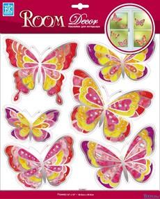"""Наклейка декор """"RoomDecor"""" RCA 5002 Витражные бабочки оптом"""