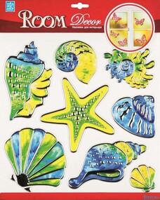 """Наклейка декор """"RoomDecor"""" RCA 5003 Витражные ракушки оптом"""