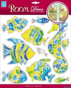 """Наклейка декор """"RoomDecor"""" RCA 5004 Витражные рыбки оптом"""