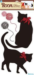 """Наклейка декор """"RoomDecor"""" RDA 3185 Черные кошки оптом"""