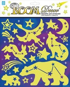 """Наклейка декор """"RoomDecor"""" RKA 3407 Светящиеся созвездия оптом"""