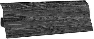 Плинтус напольный Ecoline 137 Темное серебро